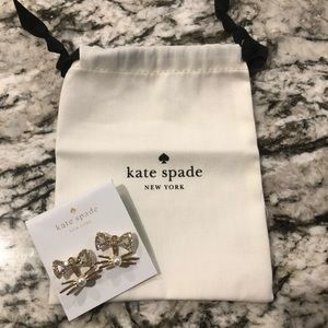 Kate Spade Gold Out West Cat Earrings